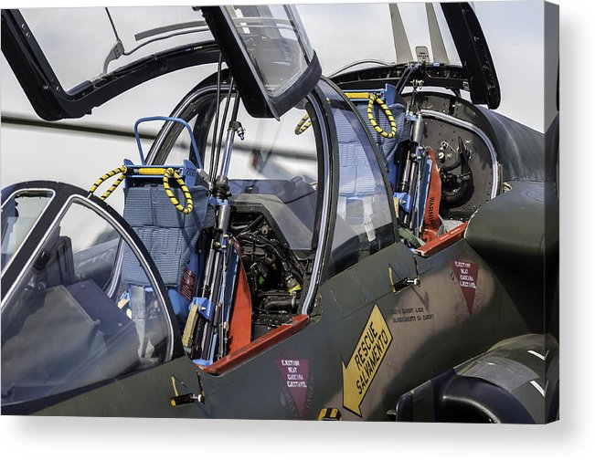 Airplane Acrylic Print featuring the photograph Fighter Jet. by Fernando Barozza