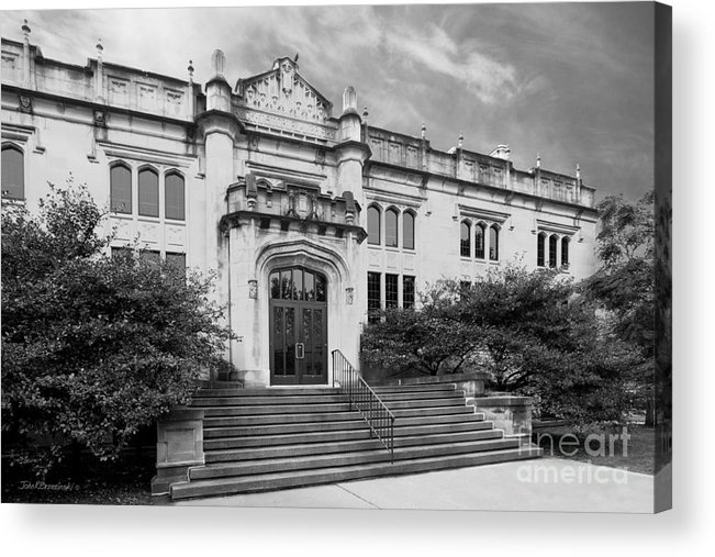 Bloomington Acrylic Print featuring the photograph Illinois Wesleyan University Buck Memorial Library by University Icons