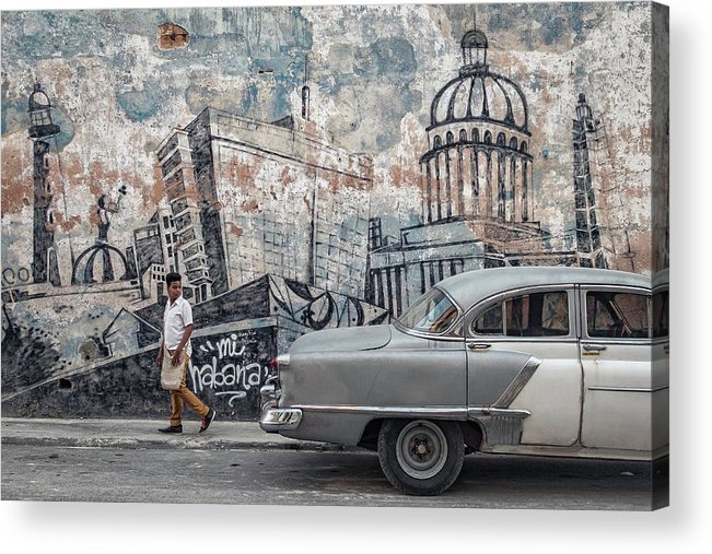 Havana Acrylic Print featuring the photograph Malecon by Andreas Bauer