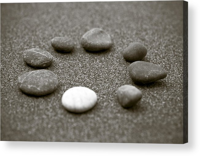 Frank Tschakert Acrylic Print featuring the photograph Pebbles by Frank Tschakert