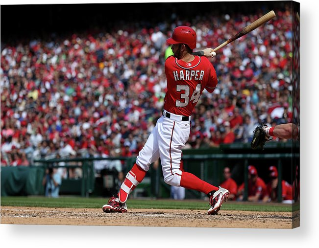 People Acrylic Print featuring the photograph Philadelphia Phillies V Washington 2 by Patrick Smith