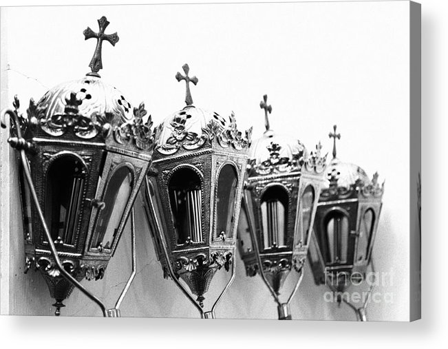 Lanterns Acrylic Print featuring the photograph Religious Artifacts by Gaspar Avila