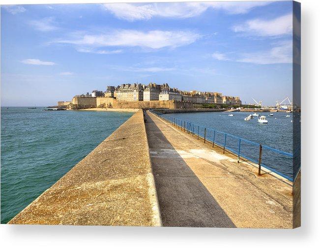City Acrylic Print featuring the photograph Saint-malo - Brittany by Joana Kruse