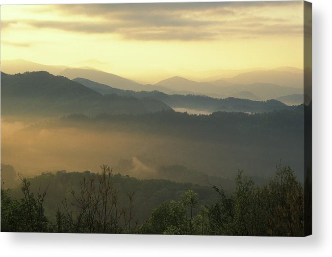 National Park Acrylic Print featuring the photograph Smoky Mountain Sunrise by John Burk