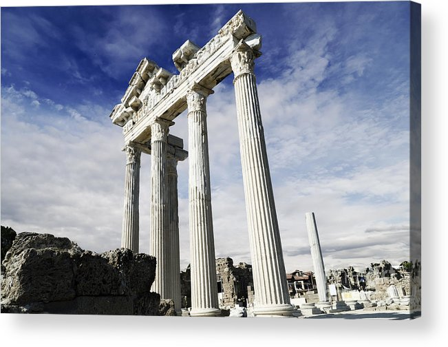 Turkey Acrylic Print featuring the pyrography Temple Of Apollo In Side by Jelena Jovanovic