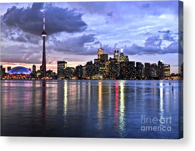 Toronto Acrylic Print featuring the photograph Toronto Skyline by Elena Elisseeva