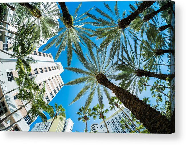 Architecture Acrylic Print featuring the photograph Miami Beach by Raul Rodriguez