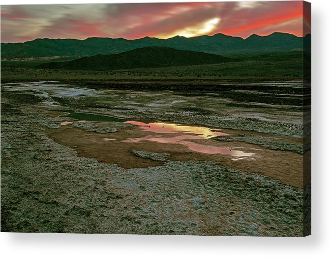 Death Valley Photographs Acrylic Print featuring the photograph Death Valley by Larry Gohl