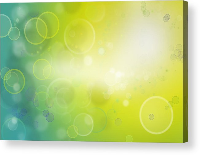 Circles Acrylic Print featuring the photograph Abstract Background by Les Cunliffe