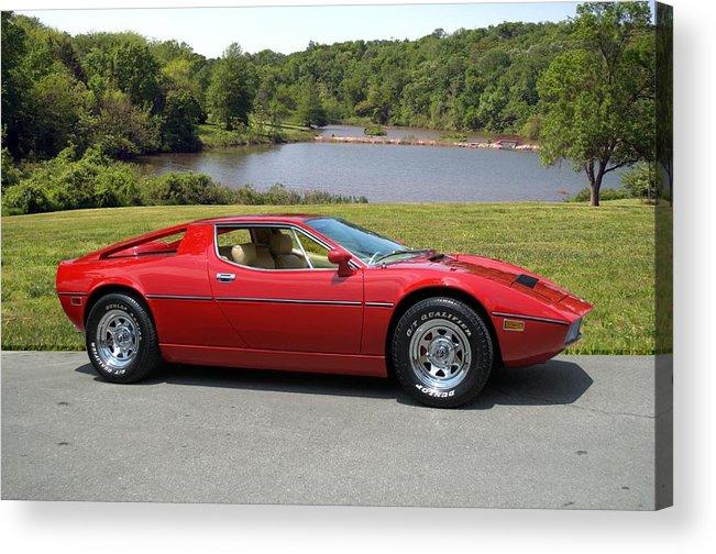 1975 Acrylic Print featuring the photograph 1975 Maserati Merak by Tim McCullough