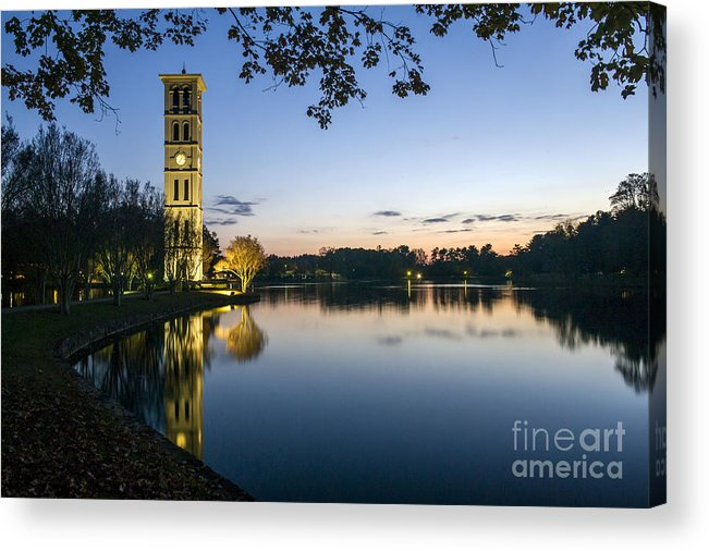 1a3879e56f6c5 Furman University Bell Tower At Sunset Greenville Sc Acrylic Print