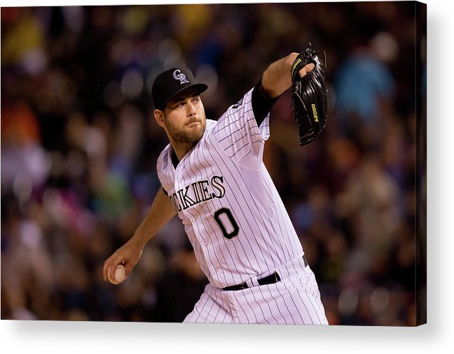 Relief Pitcher Acrylic Print featuring the photograph San Diego Padres V Colorado Rockies 3 by Justin Edmonds