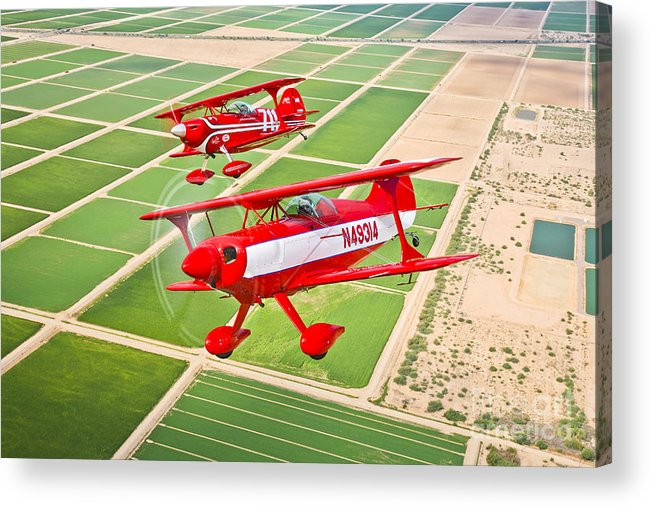 Horizontal Acrylic Print featuring the photograph Two Pitts Special S-2a Aerobatic by Scott Germain