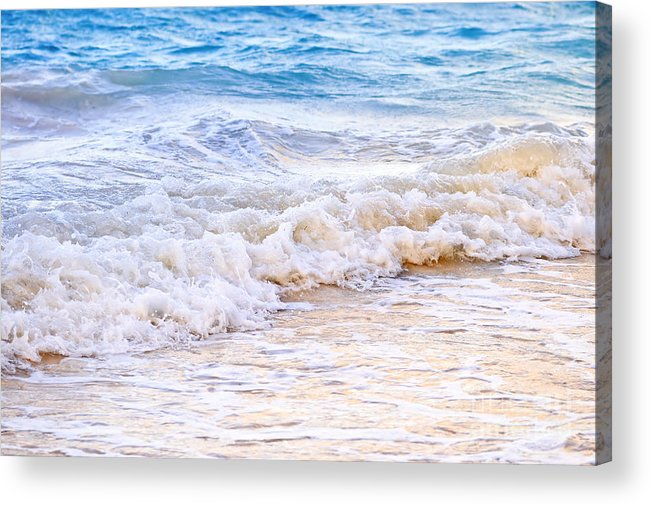 Caribbean Acrylic Print featuring the photograph Waves Breaking On Tropical Shore by Elena Elisseeva