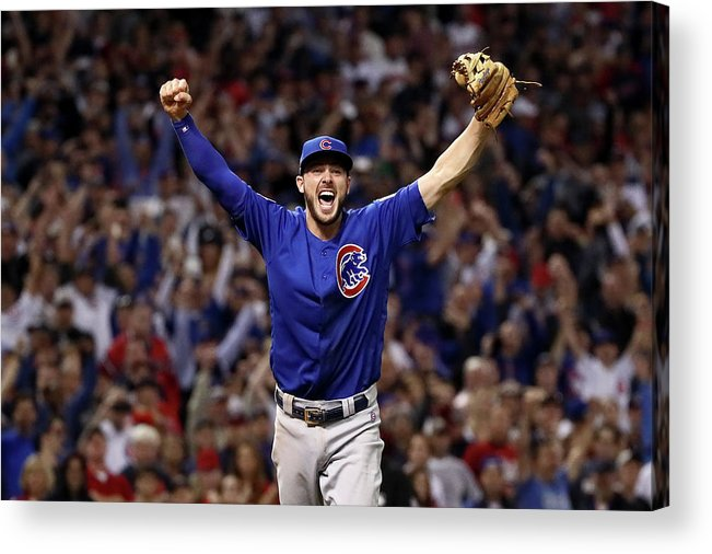 Three Quarter Length Acrylic Print featuring the photograph World Series - Chicago Cubs V Cleveland by Ezra Shaw