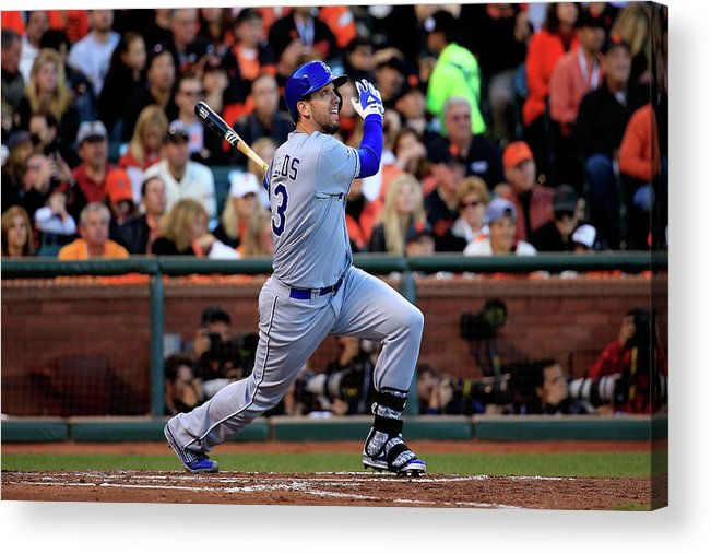San Francisco Acrylic Print featuring the photograph World Series - Kansas City Royals V San 3 by Rob Carr