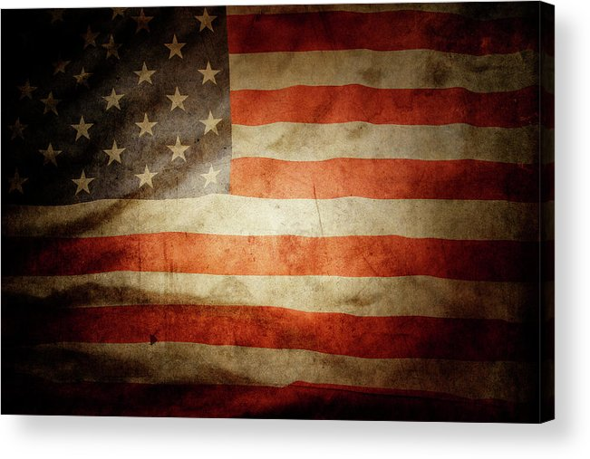 Flag Acrylic Print featuring the photograph American Flag by Les Cunliffe