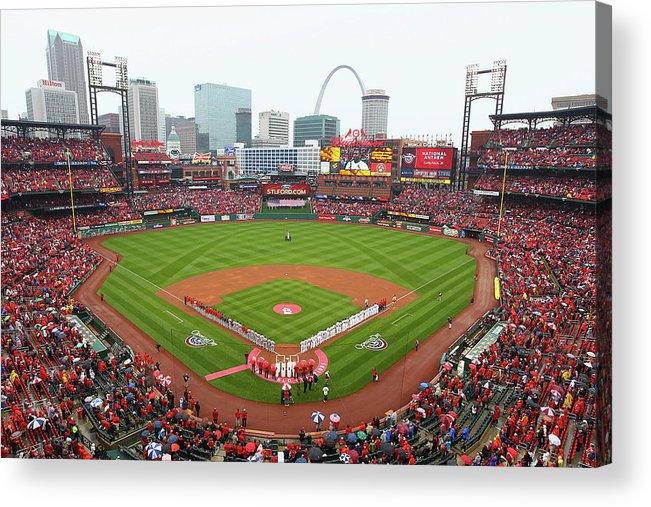 St. Louis Cardinals Acrylic Print featuring the photograph Cincinnati Reds V St. Louis Cardinals by Dilip Vishwanat