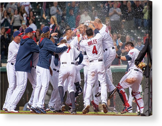 American League Baseball Acrylic Print featuring the photograph Detroit Tigers V Cleveland Indians 4 by Jason Miller