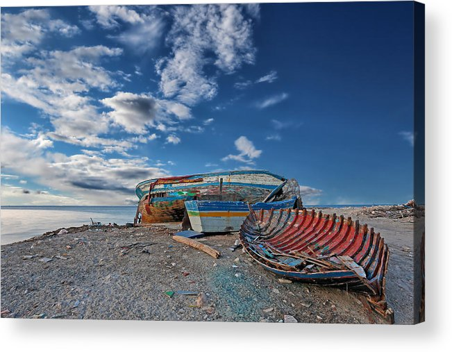 Boat Acrylic Print featuring the photograph Fishing Boat by Paul Fell