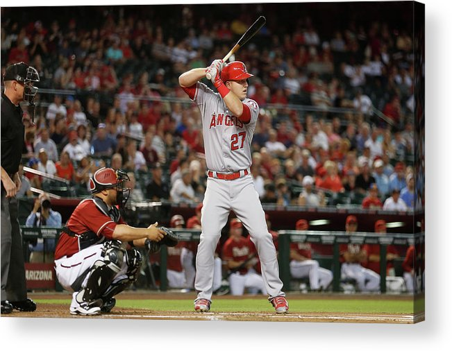 People Acrylic Print featuring the photograph Los Angeles Angels Of Anaheim V Arizona 4 by Christian Petersen