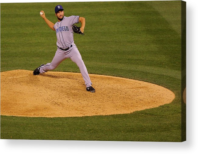 Ninth Inning Acrylic Print featuring the photograph San Diego Padres V Colorado Rockies 4 by Justin Edmonds
