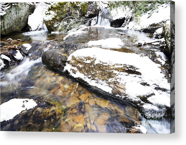 Winter Acrylic Print featuring the photograph White Oak Run In Winter by Thomas R Fletcher