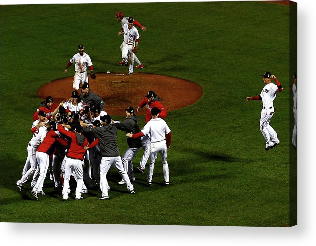 St. Louis Cardinals Acrylic Print featuring the photograph World Series - St Louis Cardinals V by Jamie Squire