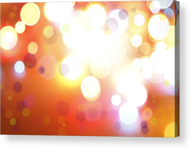 Orange Acrylic Print featuring the photograph Abstract Background by Les Cunliffe