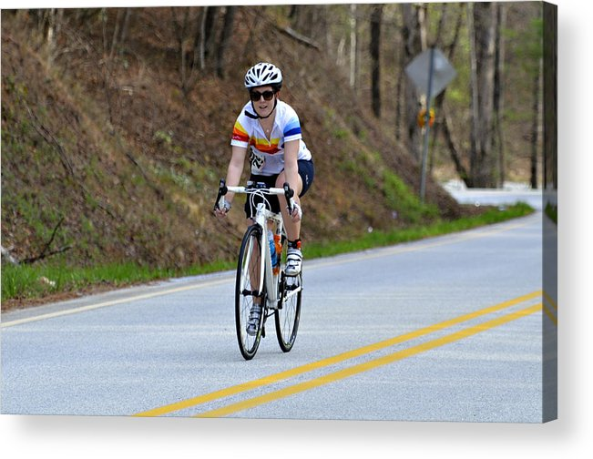 Sport Acrylic Print featuring the photograph Gran Fondo by Susan Leggett