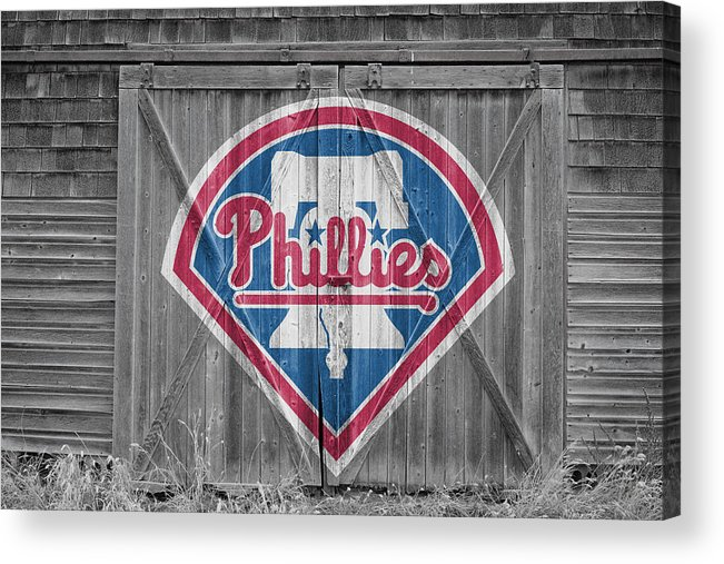 Phillies Acrylic Print featuring the photograph Philadelphia Phillies by Joe Hamilton
