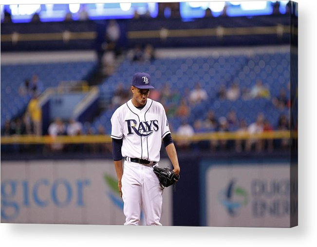 American League Baseball Acrylic Print featuring the photograph Toronto Blue Jays V Tampa Bay Rays 5 by Brian Blanco