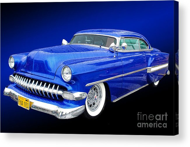 Auto Acrylic Print featuring the photograph 53 Chevy by Jim Hatch