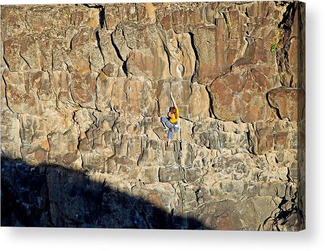 Jocelynn Smith Acrylic Print featuring the photograph Rock Climb by Elijah Weber