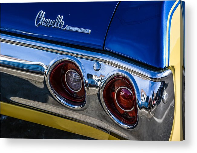 Car Acrylic Print featuring the photograph 67 Chev Taillight by Mike Watts