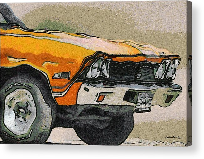 68 Chevelle Abstract Acrylic Print featuring the digital art 68 Chevelle Abstract by Ernie Echols