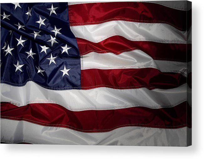 American Flag Acrylic Print featuring the photograph American Flag by Les Cunliffe
