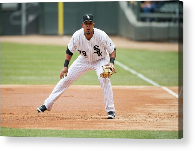 American League Baseball Acrylic Print featuring the photograph Minnesota Twins V Chicago White Sox by Ron Vesely