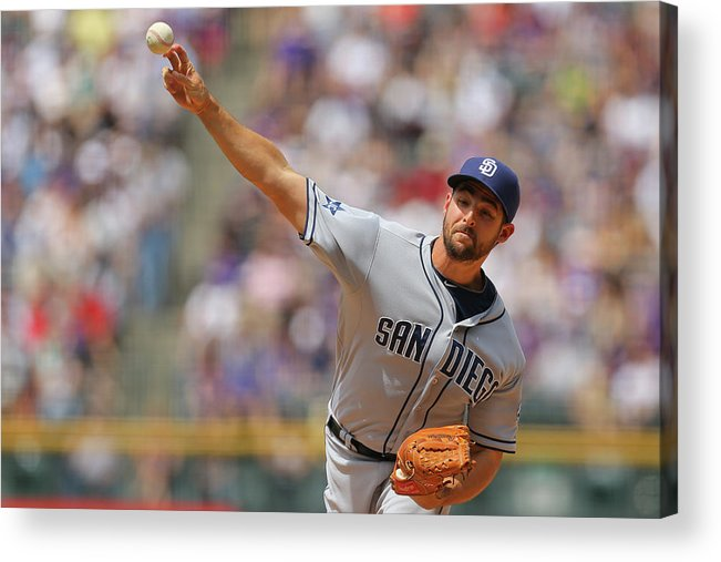 Home Base Acrylic Print featuring the photograph San Diego Padres V Colorado Rockies by Justin Edmonds