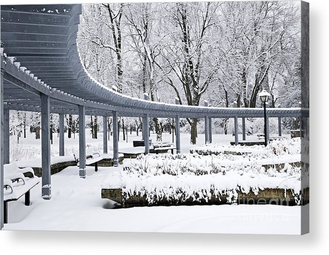Winter Acrylic Print featuring the photograph Winter Park by Elena Elisseeva