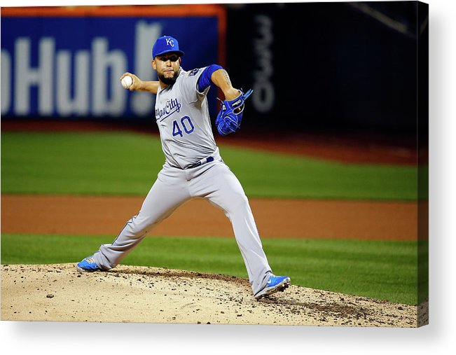 People Acrylic Print featuring the photograph World Series - Kansas City Royals V New 7 by Al Bello