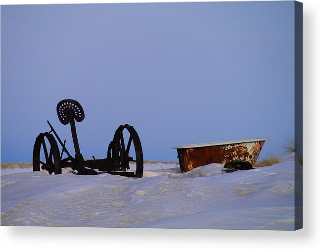 Morning Acrylic Print featuring the photograph A Bath After Harvest by Jeff Swan