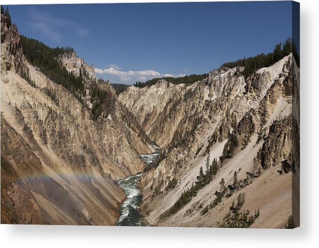 Yellowstone Acrylic Print featuring the photograph A Grand View by Jason Standiford