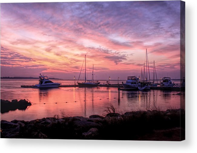 Pictures Of Sunrise Acrylic Print featuring the photograph A New Day Dawning by Ola Allen