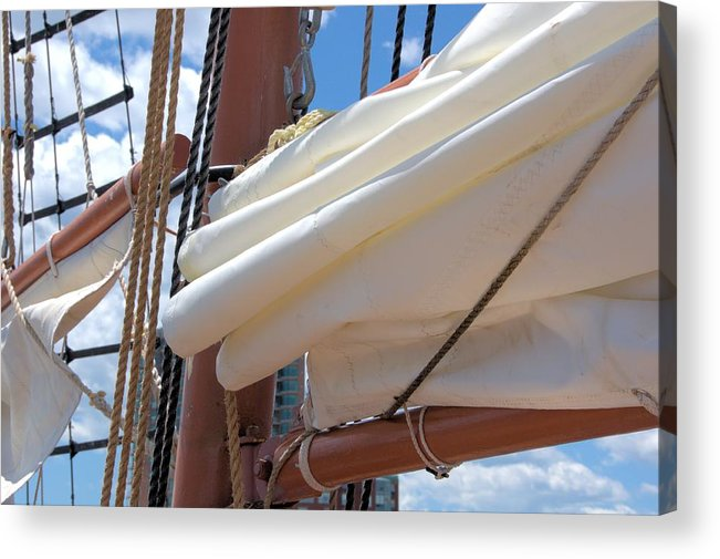 Tall Ship Acrylic Print featuring the photograph A Nice Pile Of Sail by Valerie Kirkwood