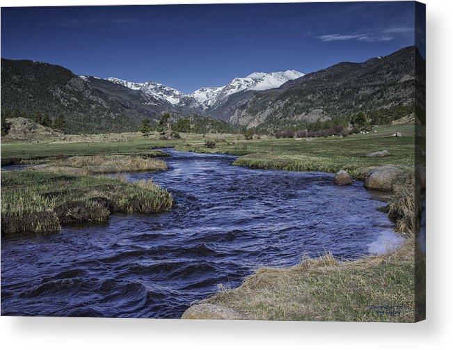 Moraine Park Acrylic Print featuring the photograph A River Runs Thru It by Tom Wilbert