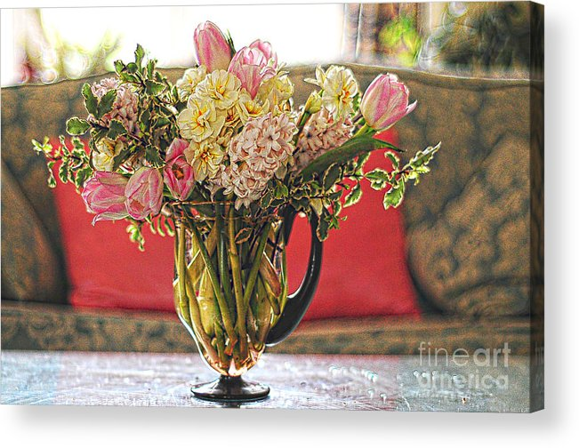 Close Acrylic Print featuring the photograph The Feminine Touch by Daniela White