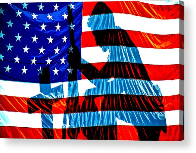 Patriotic Acrylic Print featuring the photograph A Time To Remember by Bob Orsillo