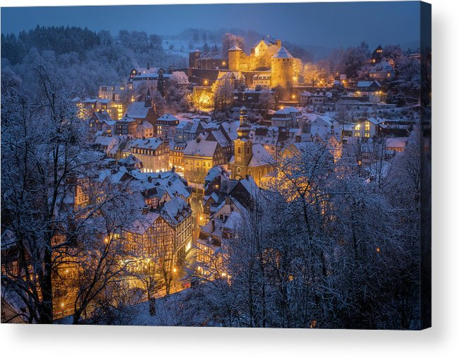Night Acrylic Print featuring the photograph A Winter Tale by Adrian Popan