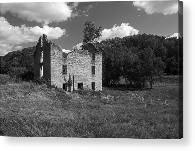 House Acrylic Print featuring the photograph Abandon Stone House 3 by Gerald Marella